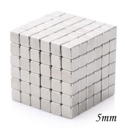 216Pcs 5mm Square Magnets Magic Cube - Silvery
