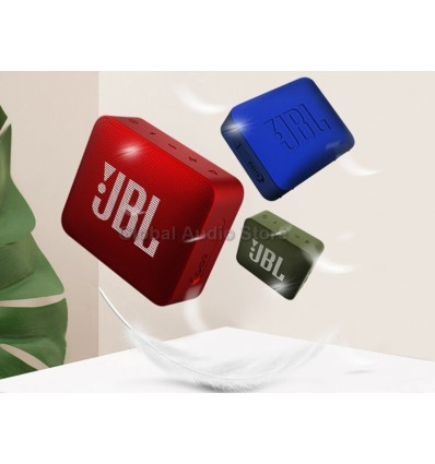 Grass Green JBL Go 2 Mini Portable Wireless IPX7 Waterproof Bluetooth Speaker with Subwoofer Bass Effect