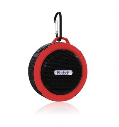 Red Portable Speaker Bluetooth Outdoor Wireless Music Speaker Subwoofer Sports Stereo Sound Mini Speaker Portable Bass