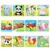 16Pcs DIY Wooden Puzzle Jigsaw Baby Kids Training Toy - Random Delivery
