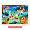 24Pcs Wooden Chunky Jigsaw Educational Learning Puzzle Toy for Children Kids - Bank Robbery