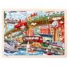 48Pcs Wooden Chunky Jigsaw Educational Learning Puzzle Toy for Children Kids - Trains and Railways