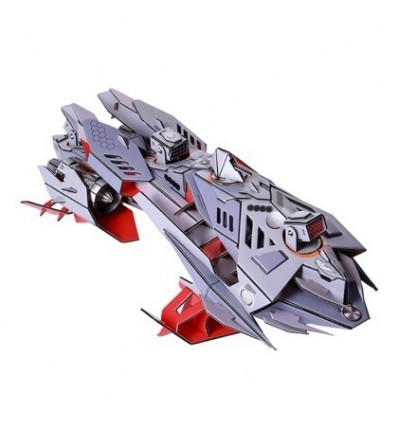 Science Fiction Series Hydrofoil Shark Attack Boat 3D Assembly Puzzle Educational Toy for Children