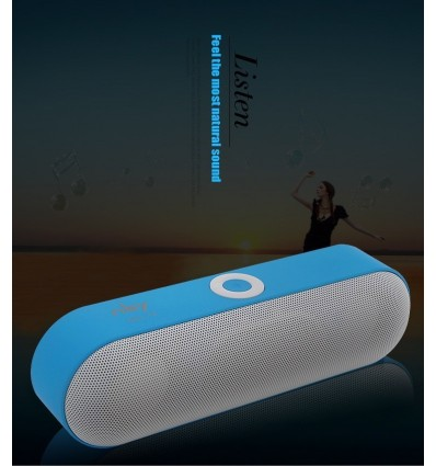 Blue New NBY-18 Mini Bluetooth Speaker Portable Wireless Speaker Sound System 3D Stereo Music Surround Support,TF AUX USB