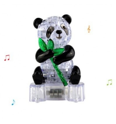 3D Crystal Panda Puzzle Jigsaw Creative Gift with Light for Children