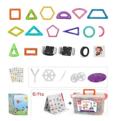 220Pcs Children Puzzle Piece Together Magnetic Sheet Home Educational Toy - Colorful