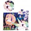 100Pcs Children DIY Paper Puzzles Educational Brain Train Toy for Kids - Unicorn