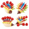 Colorful Magnetic Hedgehog Pattern Wooden Puzzle Children Education Toys