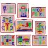 296Pcs Portable DIY Mushroom Nail Puzzle Peg Board Kids Children Educational Toy - Color Random