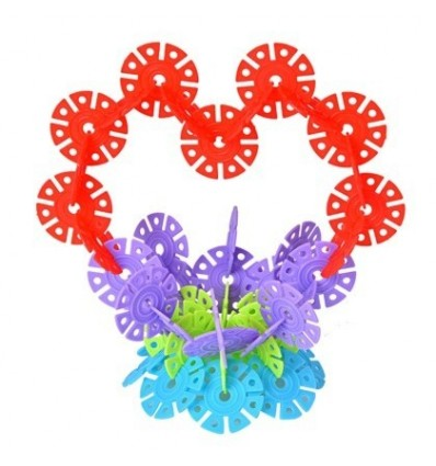 150Pcs Colorful Plastic Snowflake Building Blocks Puzzle Educational Kid Toy (Thin Section)
