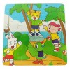 16 Pieces Wooden Cartoon Colorful Animal Pattern Jigsaw Puzzle Educational Toys for Children- Tiger
