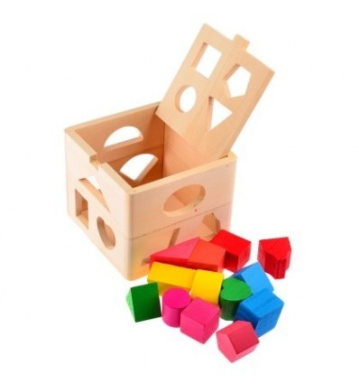 13 Holes Intelligence Box for Shape Sorter Cognitive and Matching Wooden Building Blocks Baby Kids Children Eductional Toys