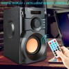 TOPROAD Big Power Bluetooth Speaker Wireless Stereo Subwoofer Heavy Bass Speakers Music Player Support LCD Display FM Radio TF