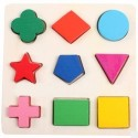 Learning Geometry Building Block Puzzle Montessori for Baby Kids