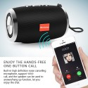 Grey TOPROAD HIFI Portable Wireless Bluetooth Speaker Stereo Column Boombox Subwoofer Support FM Radio TF AUX USB for Phones