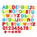 5Pcs Letter Figure Symbol Puzzle Magnetic Sticker Set with Foldable Magnetic Whiteboard and Whiteboard Marker