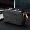 Silver Loudspeaker TF Card Bluetooth Speaker Surround FM Wireless Stereo Sound Home Mini Portable Rechargeable Smartphone Laptop