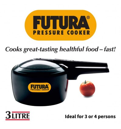 Hawkins Futura Hard Anodised Induction Compatible Pressure Cooker 3 Litre