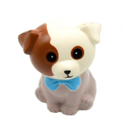 Cute Cartoon Animal Series Slow Rebound Simulation Toy Decompression Toy for Home Decoration - Bowknot Dog