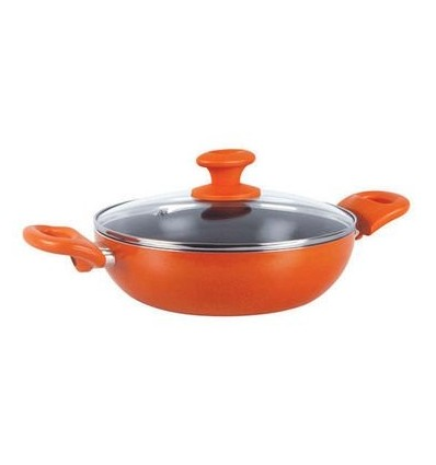Prestige Creme Non-Stick Curry Pot, 240 mm, Orange sku code 35118