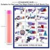 100 Pcs Soft Bullet Women Soft Head Foam Bullets for Nerf N-strike Elite Series 7.3CM - Orange