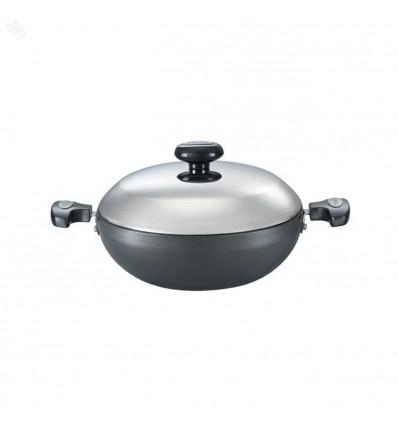 Prestige Hard Anodised Cookware Kadai, 240 mm, Black Sku Code : 30604