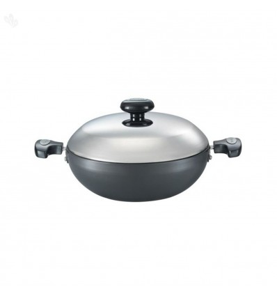 Prestige Hard Anodised Cookware Kadai, 200 mm, Black Sku Code : 30603