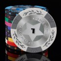 $1 14g Clay Composite Striped Crown and Wheat Pattern Dice Poker Chip