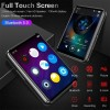 Black MP3 Player with Bluetooth5.0 16GB 2.5 Inch Touch Screen FM Radio HiFi Music Player Walkman with Video E-Book