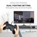 2 pcs Wired USB Controller Gamepad For WinXP/Win7/Win8/Win10 For PC Computer Laptop Black Game Joystick