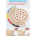Kids Wooden Memory Match Stick Chess Game Fun Block Board Game Educational Color Cognitive Ability Toy