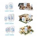 2Doorbell 2Button FUERS M557 Wireless Doorbell Home Security Alarm Welcome 3in1 Multi-purpose 433MHz
