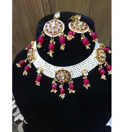 Kundan and Pearl choker Necklace for Women/Girls