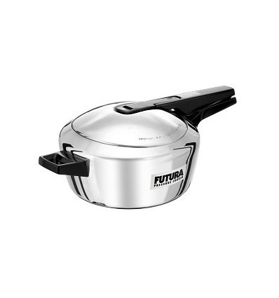 Hawkins Futura Stainless Steel 4 L Pressure Cooker with Induction Bottom (Stainless Steel)