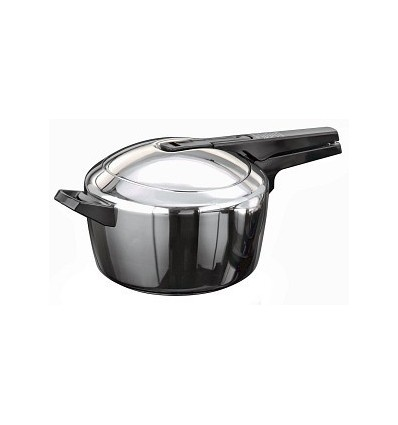 Hawkins Futura Stainless Steel Induction Compatible 5.5 L Pressure Cooker with Induction Bottom