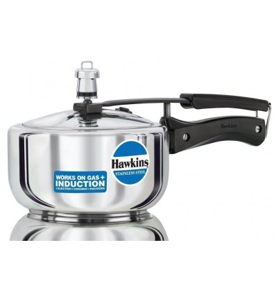 Hawkins Stainless Steel Pressure Cooker, 2 Litres, Silver