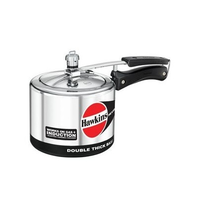 Hawkins Hevibase IH30 3-Litre Induction Pressure Cooker, Small, Silver