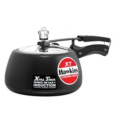 Hawkins Contura Hard Anodized Induction Compatible Extra Thick Base Pressure Cooker, Black, 3L