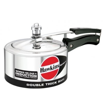 Hawkins Hevibase IH20 2-Litre Induction Pressure Cooker, Small, Silver