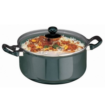 Hawkins Futura Non-Stick Stewpot With Glass Lid, 5 Litres Black
