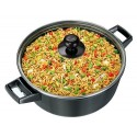 Hawkins Futura Non-Stick Cook N Serve Bowl With Glass Lid, 3 Litres Black