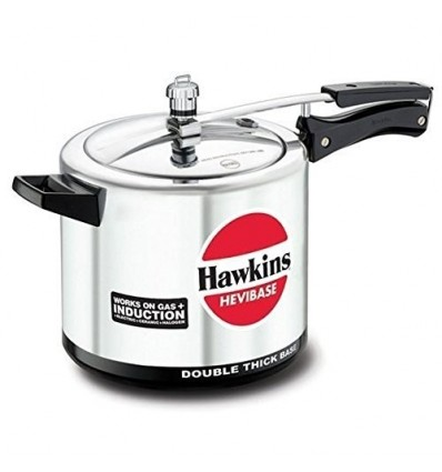 Hawkins Hevibase IH65 6.5-Litre Induction Pressure Cooker, Small, Silver