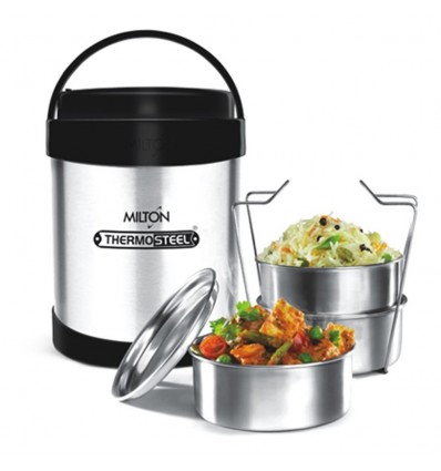 Milton Thermosteel Royal 3 Tiffin Lunch Box Stainless Steel