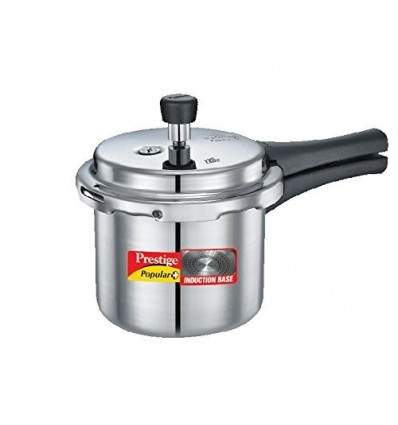 Prestige Popular Plus Induction Base Hard Anodized Aluminium Pressure Cooker, 2 Litres, White
