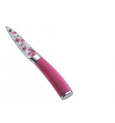 Prestige Floral Stainless Steel Paring Knife, Pink