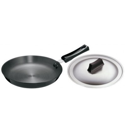 Hawkins Futura Hard Anodised Frying Pan With Steel Lid, 25cm Black