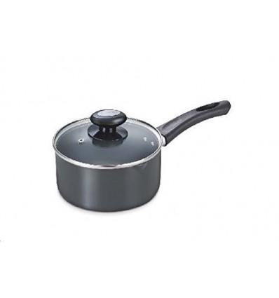 Prestige Aluminium Milk Pan, 3 Litres/200mm, Black